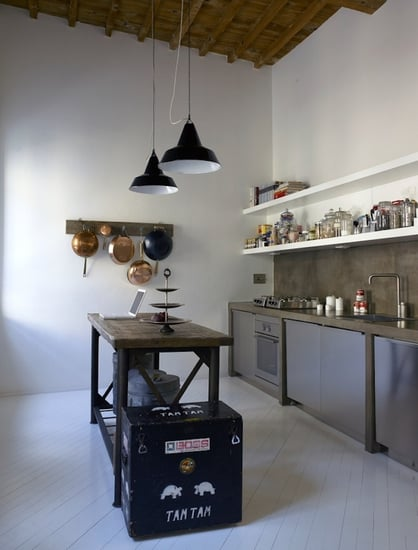 Steal This Look: Industrial Kitchen & Dining Room by B-Arch Studio in Italy