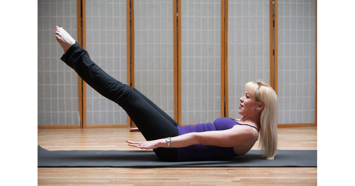 how to do pilates 100s popsugar fitness. Black Bedroom Furniture Sets. Home Design Ideas