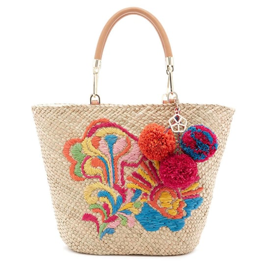Colorful Straw Totes