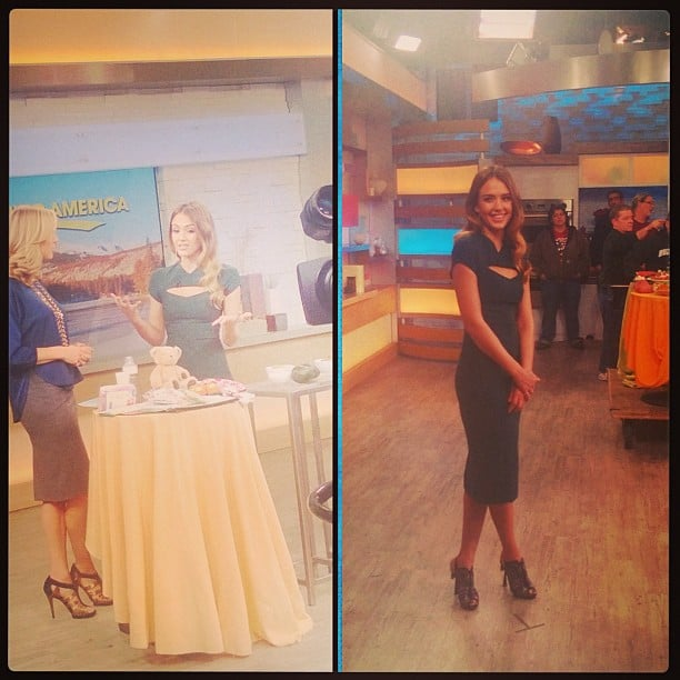 Jessica Alba stopped by Good Morning America to promote her new book, The Honest Life. Source: Instagram user jessicaalba