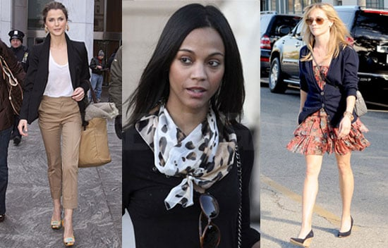 Photos of Keri Russell, Zoe Saldana, and Reese Witherspoon