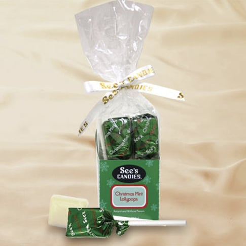 See's Candies Christmas Mint Lollypops