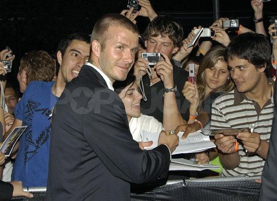 David Beckham in Sydney
