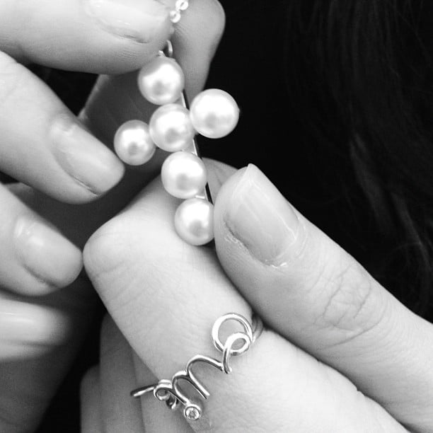 Kym Ellery got her hands on some gorgeous Paspaley pearl accessories. Source: Instagram user kymellery