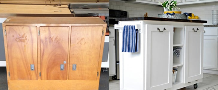 A $5 Garage Sale Cabinet Is Transformed Into a Stunning Kitchen Island