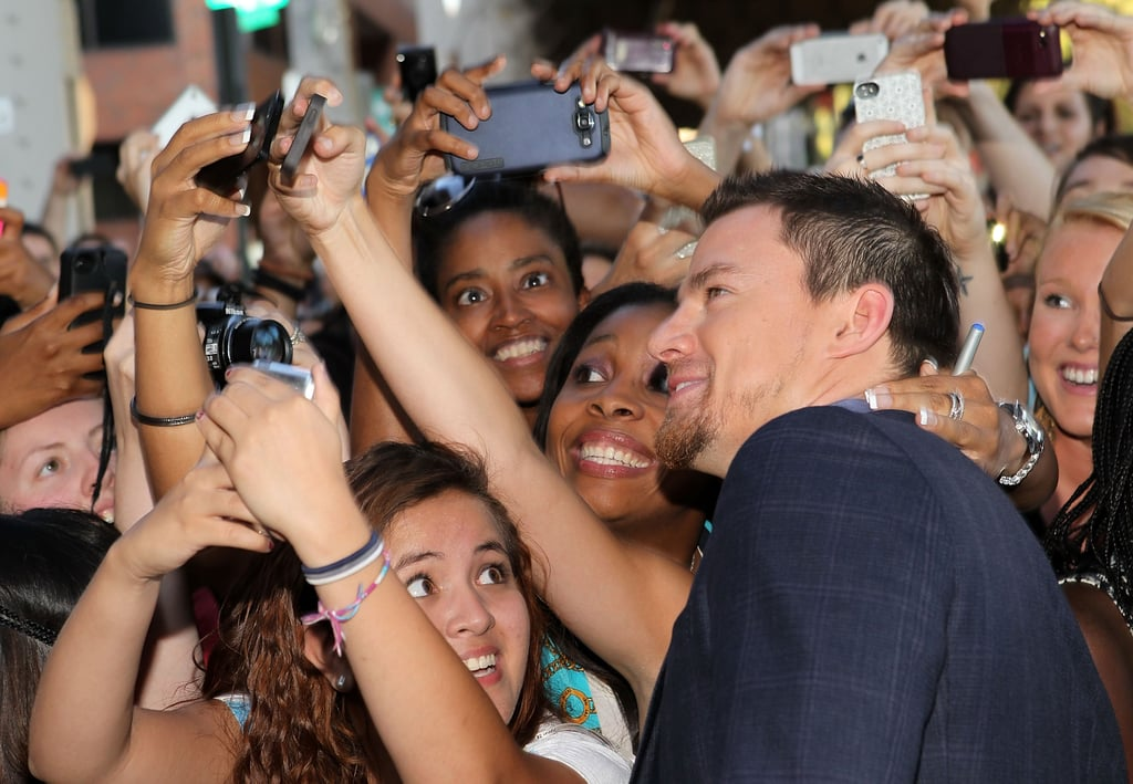 Channing Tatum wooed his fans at his Washington DC premiere of White House Down in June.