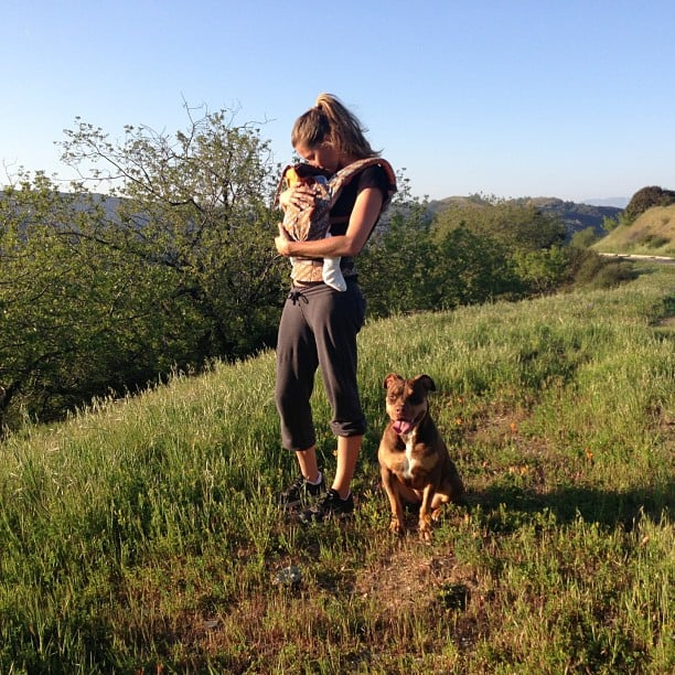 Gisele Bündchen enjoyed the Spring weather on a hike with baby Vivian and their dog. Source: Instagram user giseleofficial