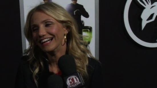 Video of Cameron Diaz Talking About Eating Fried Food at The Green Hornet Premiere in LA