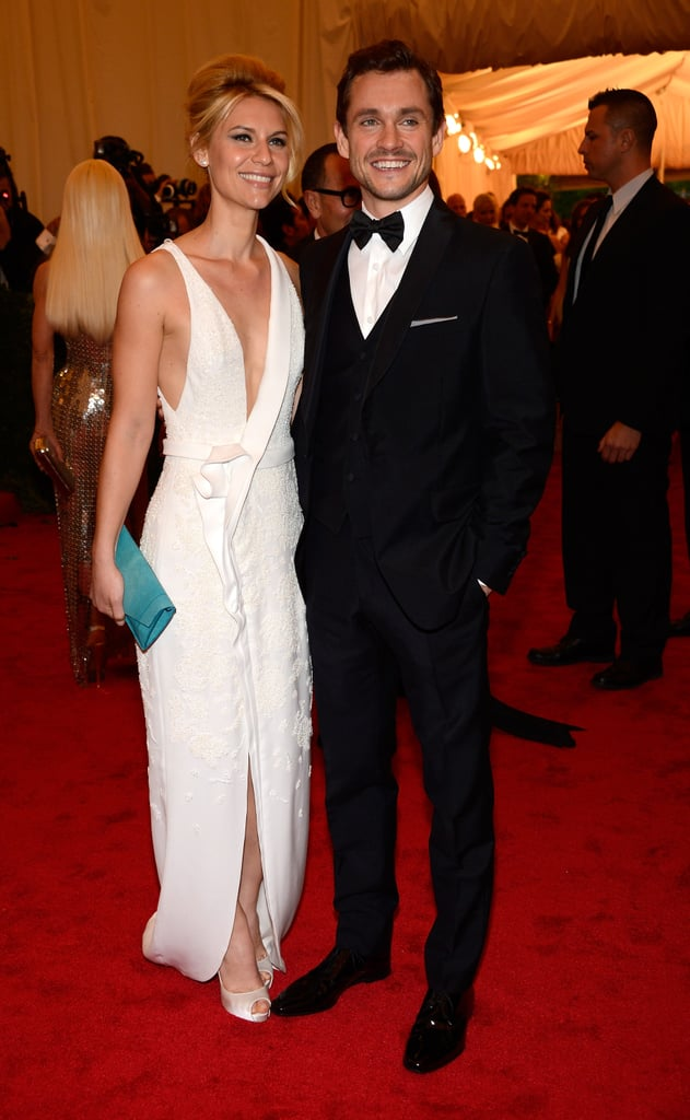 Claire Danes attended the Met Gala with Hugh Dancy wearing a J. Mendel gown.