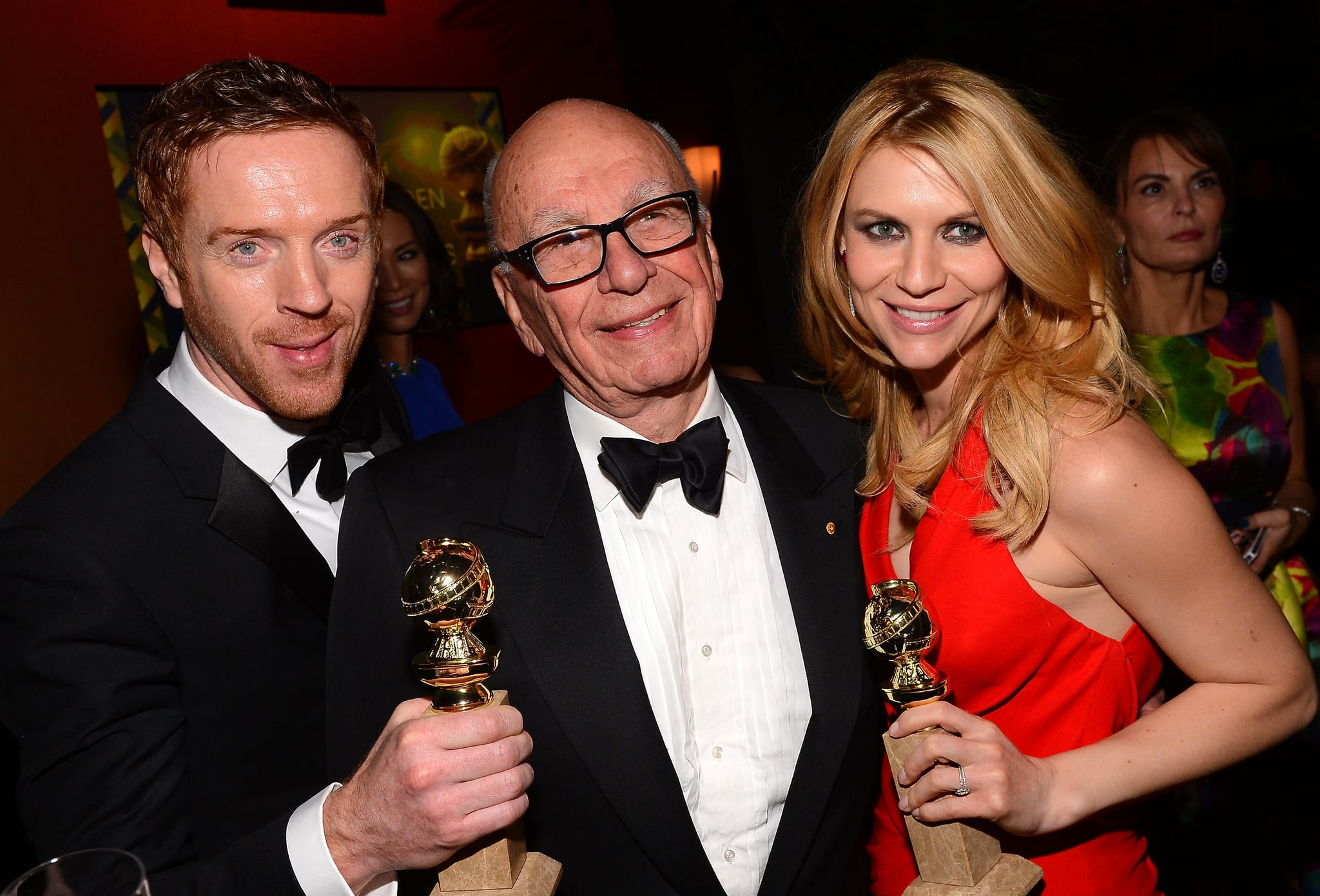 Homeland's Claire Danes and Damian Lewis said hello to Rupert Murdoch.