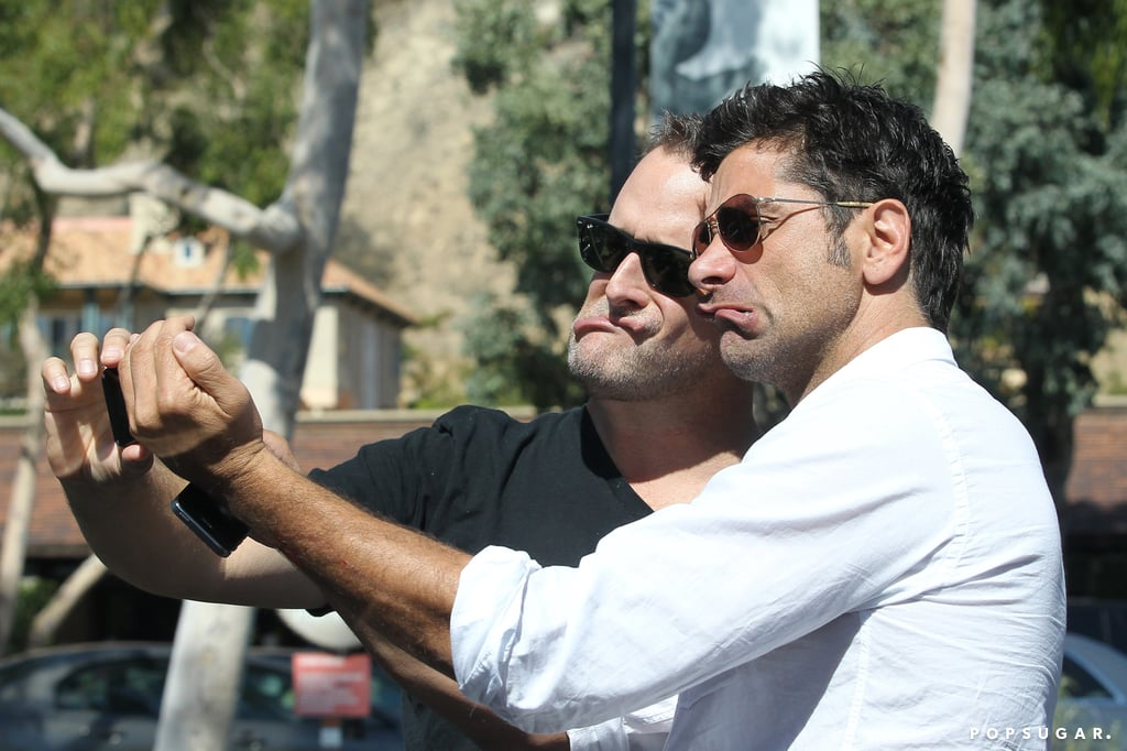 John Stamos and Dave Coulier took photos together.