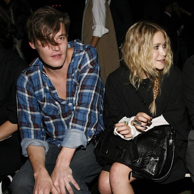 Mary-Kate Olsen and Nate Lowman at Proenza Schouler