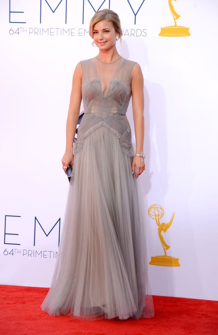 Emily VanCamp Dazzles at the Emmys in a Gray J. Mendel