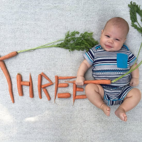 Baby's Monthly Veggie Photo Series