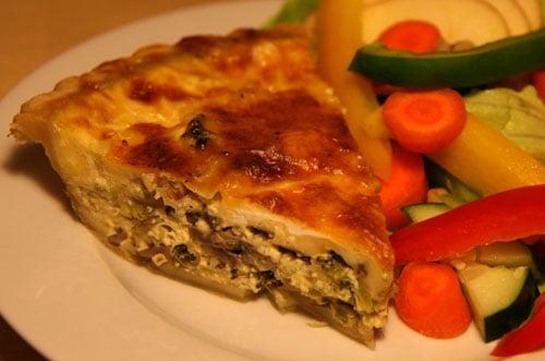 Healthy Recipe: Broccoli Mushroom Leek Quiche   POPSUGAR Fitness