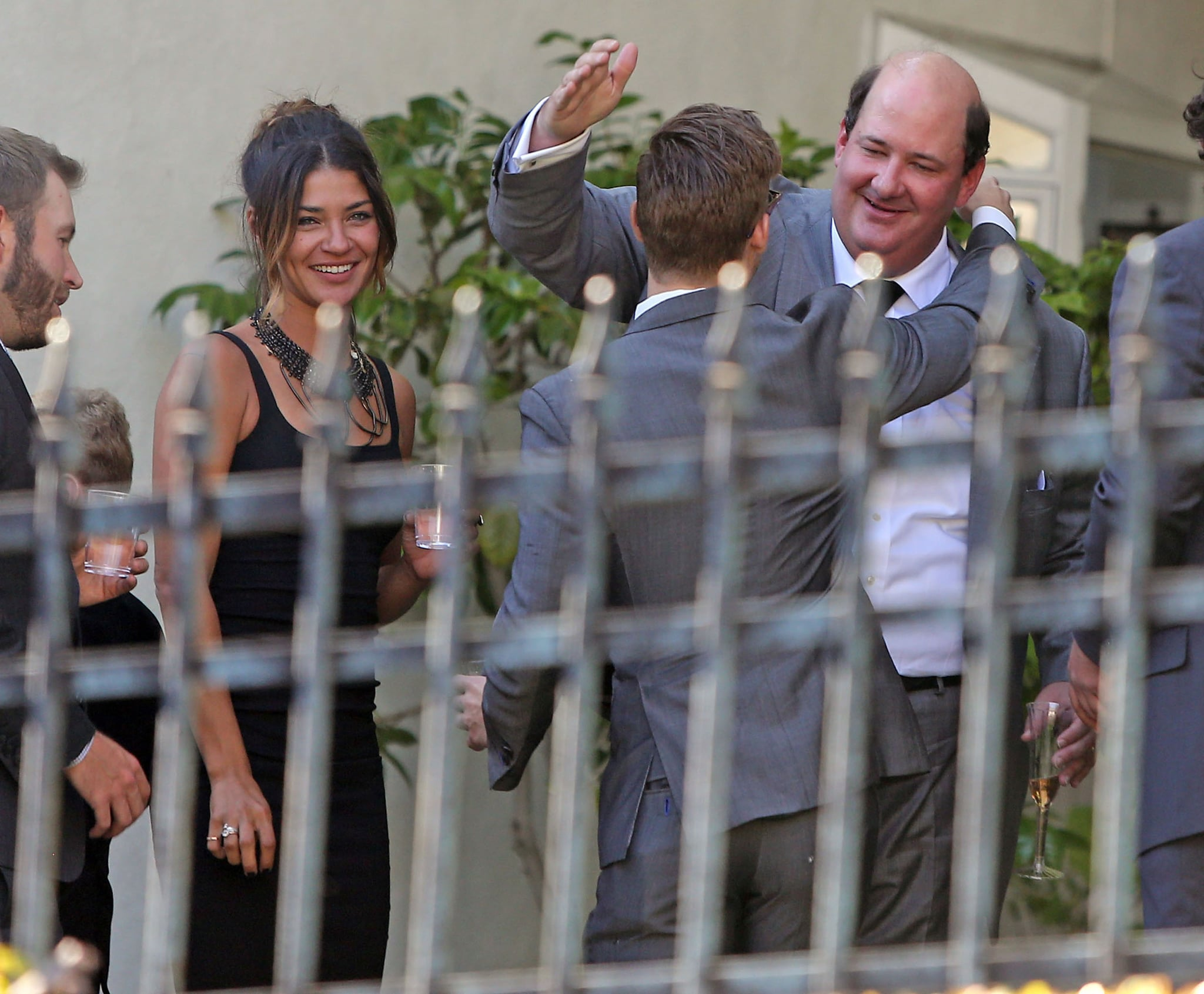 Jessica Szohr was also at the nuptials.