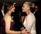 Molly Sims chatted with Jennifer Garner at Vanity Fair's Oscar after-party.