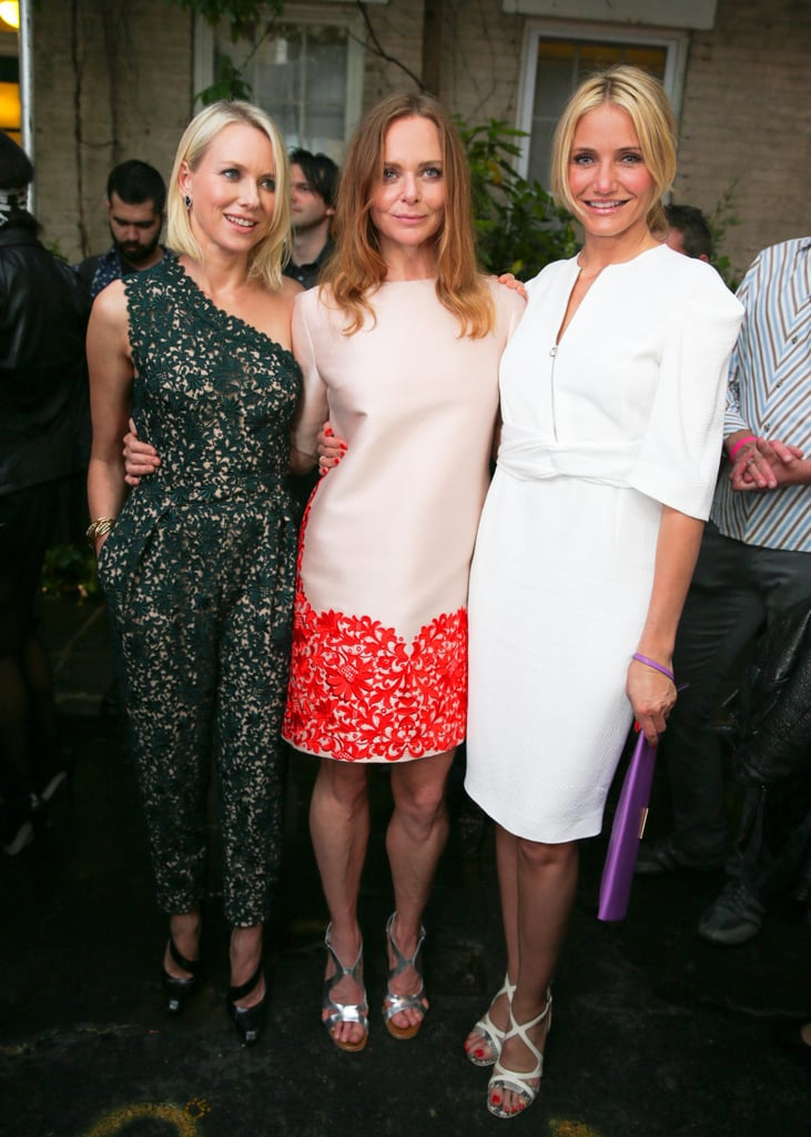Cameron Diaz and Naomi Watts supported Stella McCartney at her 2014 Spring collection garden party in NYC.