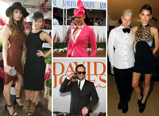 Celebrity Pictures at 2011 Caulfield Cup With Lara Bingle, Megan Gale, Dave Hughes, Alex Dimitriades