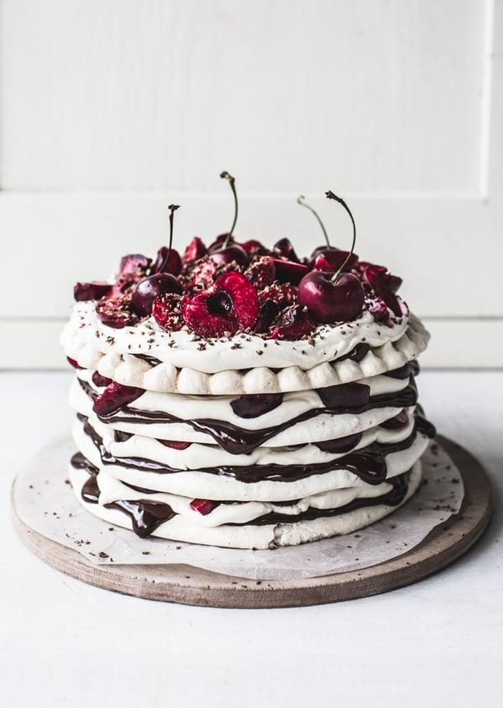 Chocolate Cherry Meringue Stack Cake
