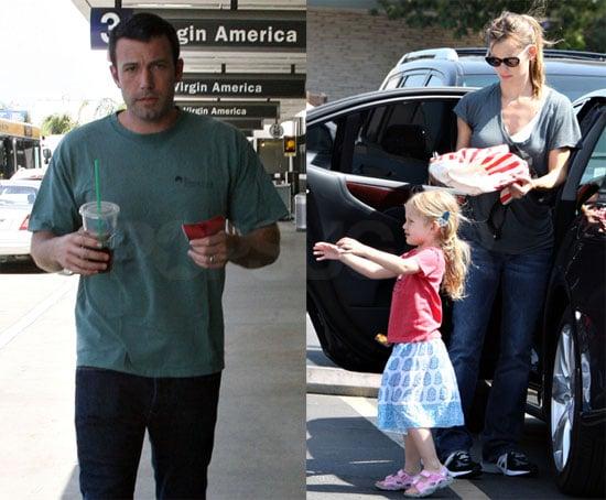 Photos of Jennifer Garner and Violet Affleck at a LA Farmers Market; Ben Affleck at LAX