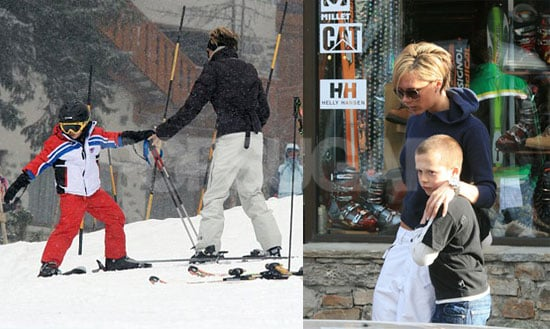 Posh and Brooklyn Continue Ski School