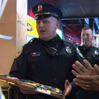 Police Officers Throw Party For Autistic Child