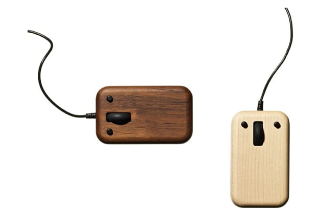 You'll be the source of office envy with this one. A sleek wooden USB mouse ($97) shows off the natural patterns of maple or walnut. Click away!