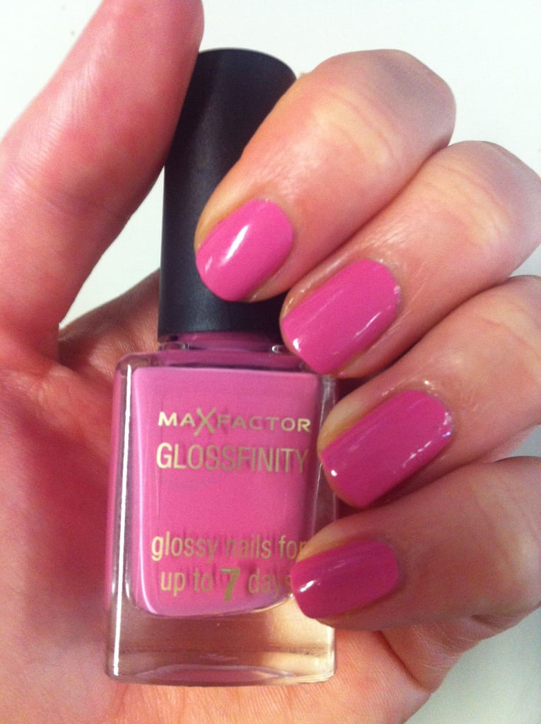 Alison said goodbye to topcoat with Max Factor's new Glossfinity. Available in September.