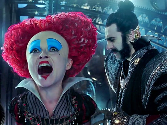 WATCH: Helena Bonham Carter's Red Queen Gets a Surprise from Sacha Baron Cohen's Time in Exclusive Clip from Alice Through the L