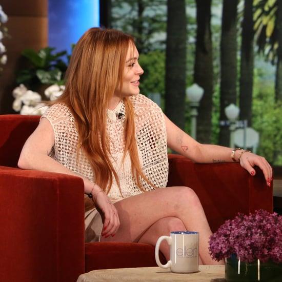 Lindsay Lohan on The Ellen DeGeneres Show 2014