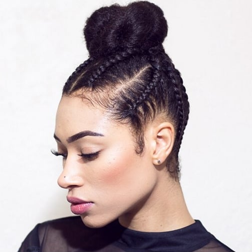 Cornrow Braids Updo Styles