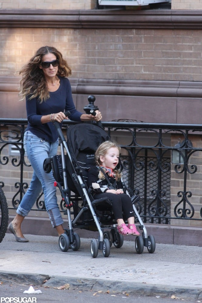 Sarah Jessica Parker walked with Tabitha Broderick in a stroller.