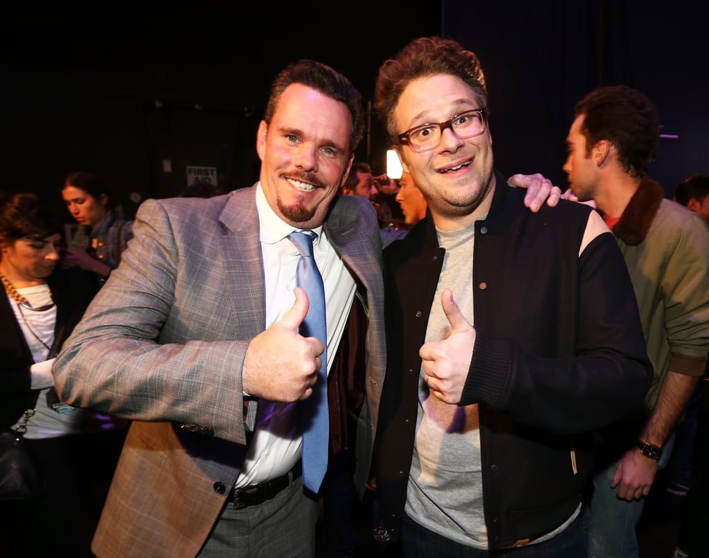 Kevin Dillon and Seth Rogen gave a thumbs up.