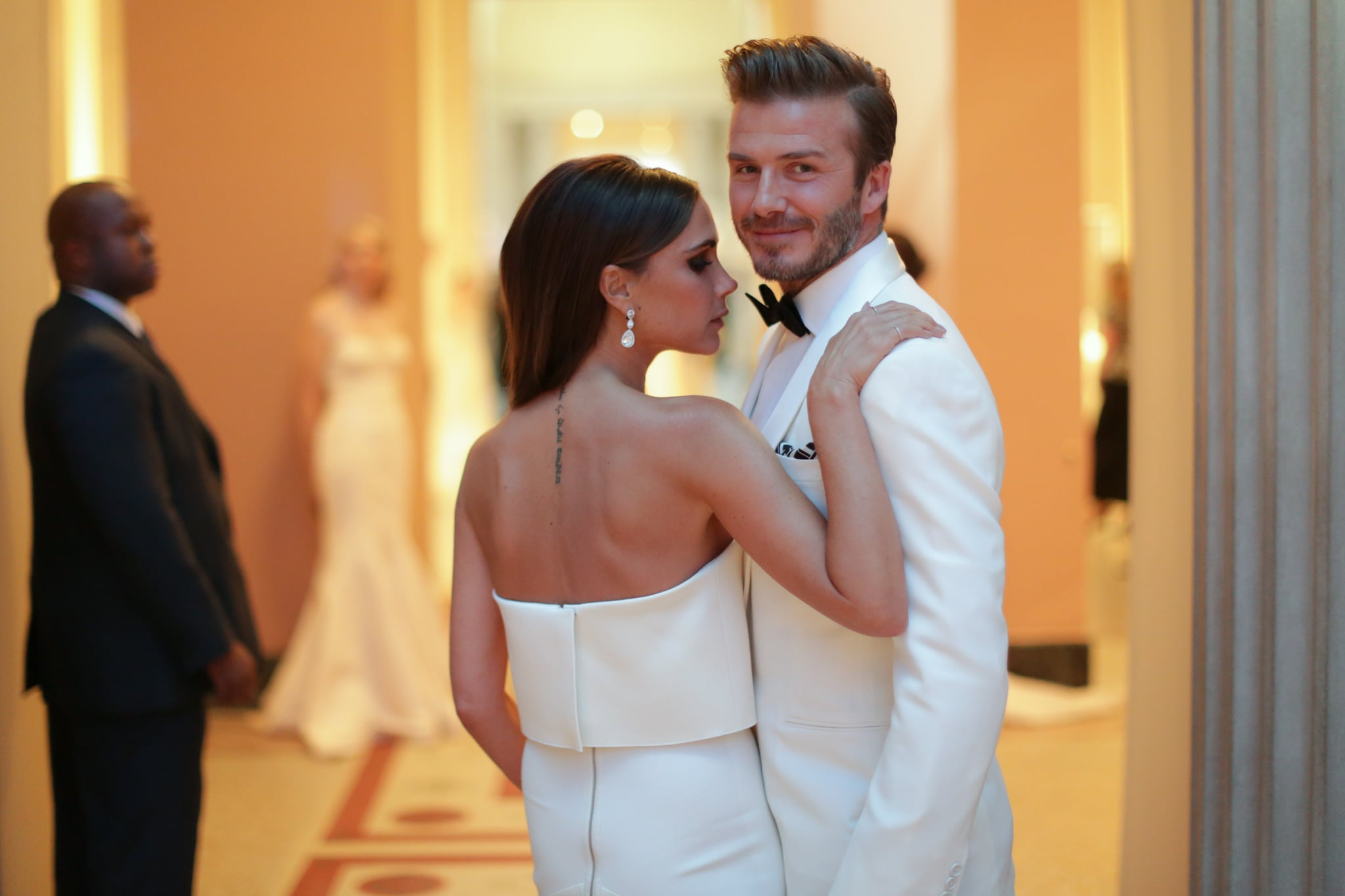 David and Victoria Beckham posed for this beautiful shot.