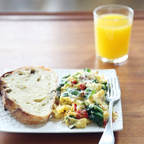 Spinach and Sun-Dried Tomato Scramble