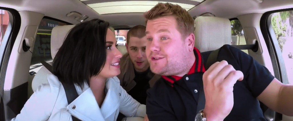 Demi Lovato Hilariously Grills Nick Jonas About His Dating History During Carpool Karaoke