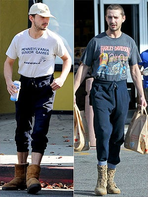 PHOTOS: Shia LaBeouf's Steve Urkel-Style Sweatpants Need Your Attention