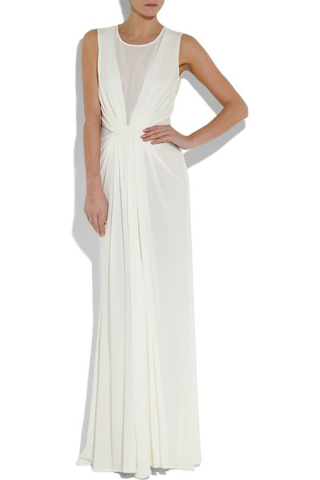The sheer insets take this elegant gown to a sexier place.  Issa Silk-Chiffon Gown ($800)