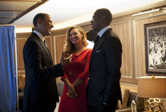 Beyoncé and Jay-Z chatted with President Obama at an NYC fundraiser in September 2012. Source: Twitter User BarackObama