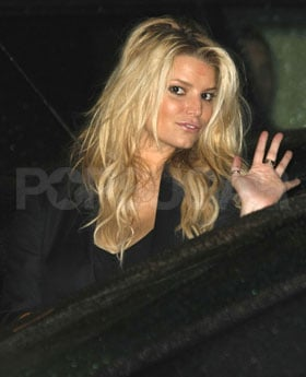 Jessica Simpson Leaves Tina Simpson's Birthday Dinner in LA