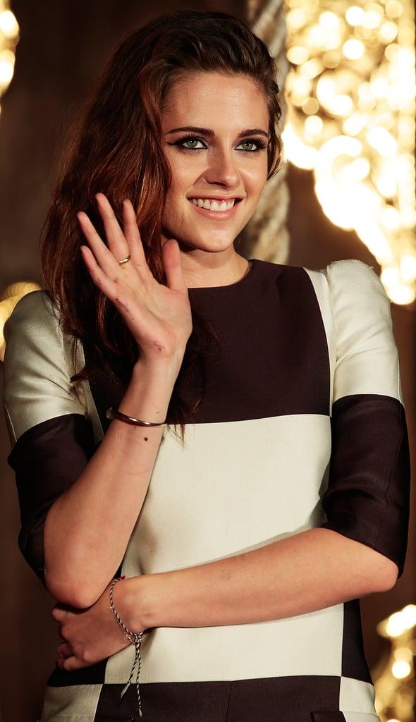 Kristen Stewart posed for photos in Japan.