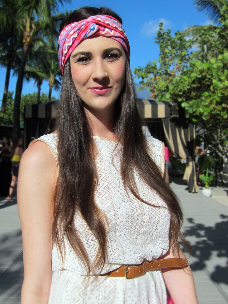 """I matched my head wrap to my Cambridge Satchel.""  — Meagan"