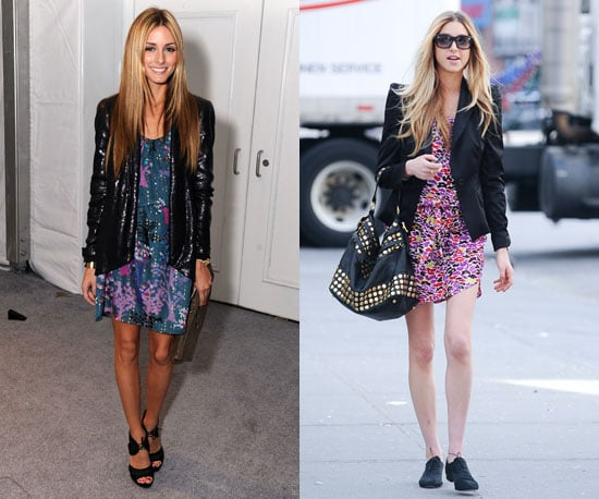 Colorful florals get dressed up with jackets.