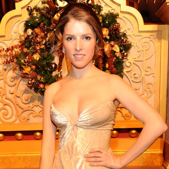 Anna Kendrick's Nude Dress at Christmas in Washington