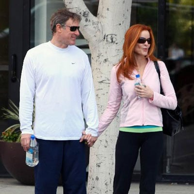 Marcia Cross and Tom Mahoney Leave Pilates Class