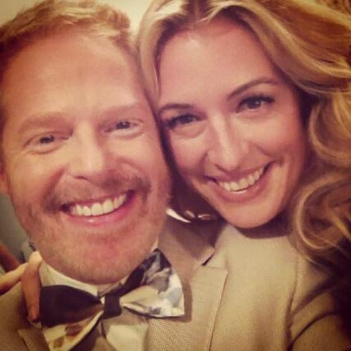 Jesse Tyler Ferguson posed with Cat Deeley during a guest-hosting gig on So You Think You Can Dance. Source: Twitter user jessetyler