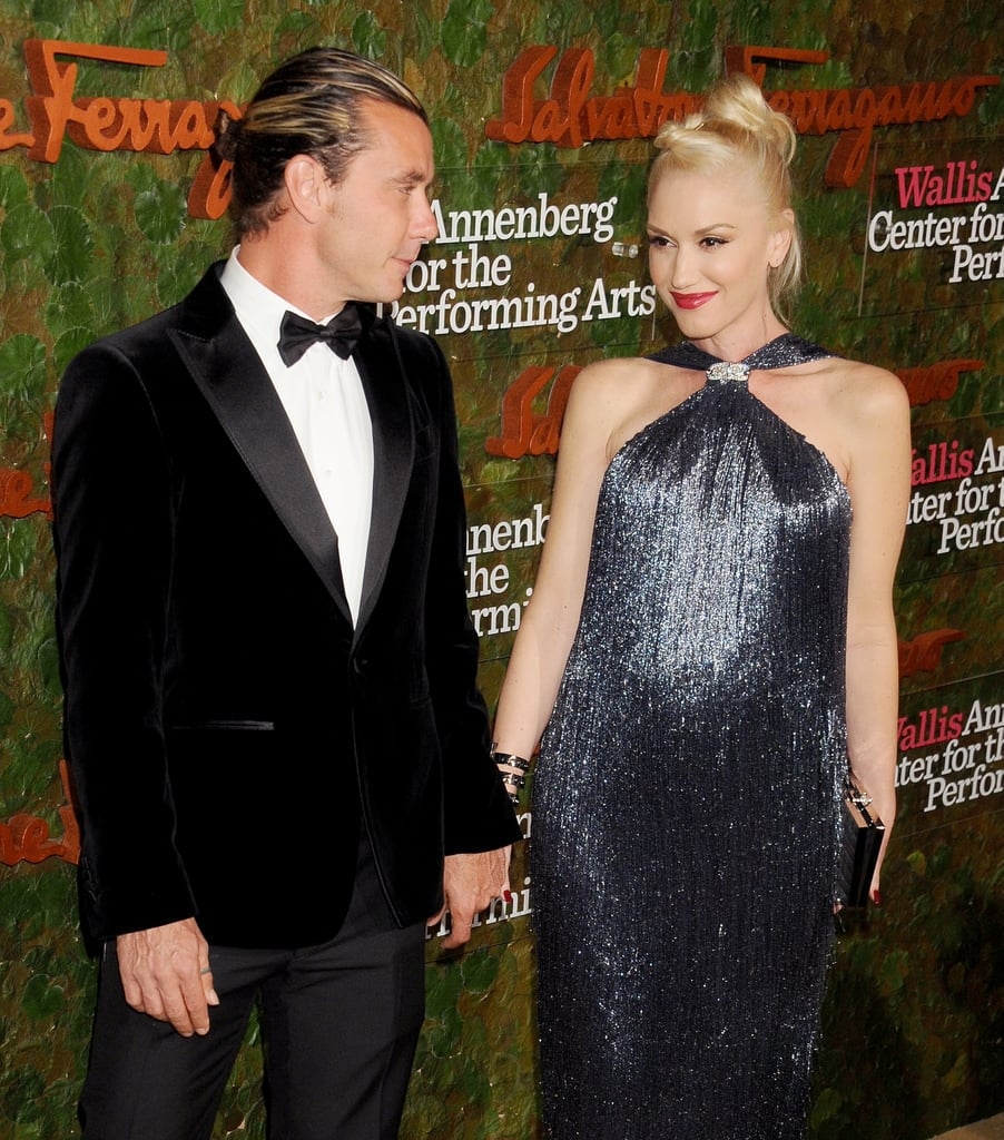 Gwen Stefani held hands with Gavin Rossdale when they attended the Wallis Annenberg Center For the Performing Arts Inaugural Gala in LA.