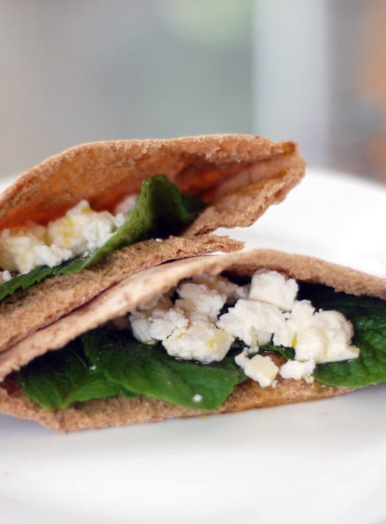 Pita Bread With Mint and Feta