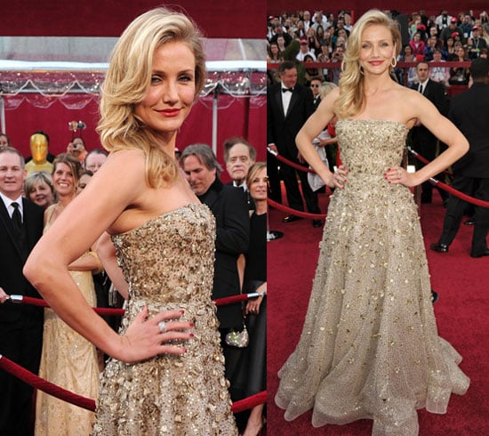 Photos of Cameron Diaz at 2010 Oscars on Red Carpet